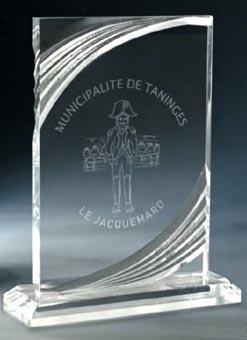Trophée plexiglass Transparent ''luxe'' 181-43