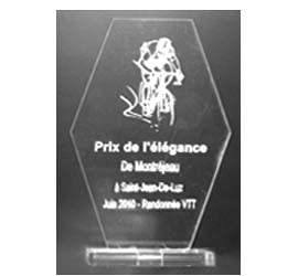 Trophée Hexagone<br>hauteur L