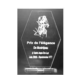 Trophée Hexagone hauteur M