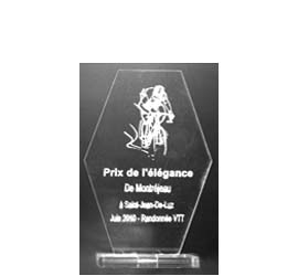 Trophée Hexagone hauteur S
